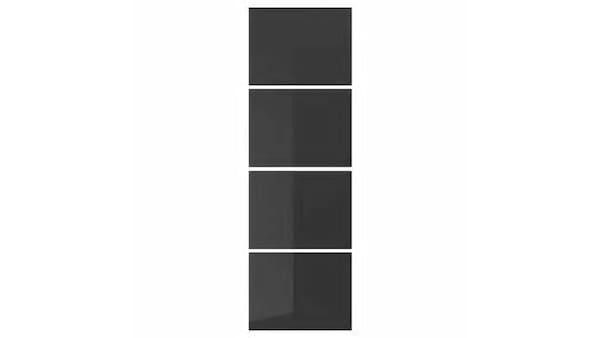 UGGDAL 4 panel tolóajtó kerethez, szürke üveg