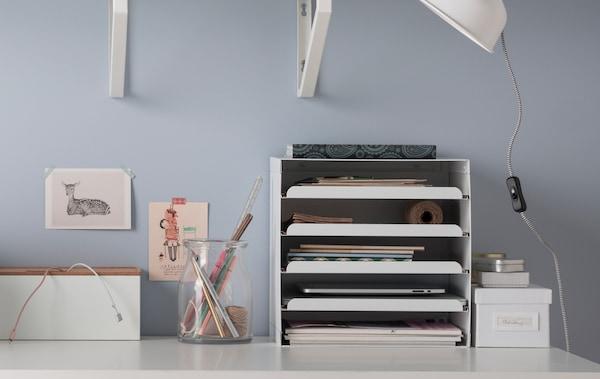 Mesa Despacho Ikea Blanca.3 Maneras De Organizar El Escritorio Ikea