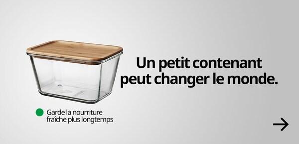 Un petit contenant peut changer le monde.