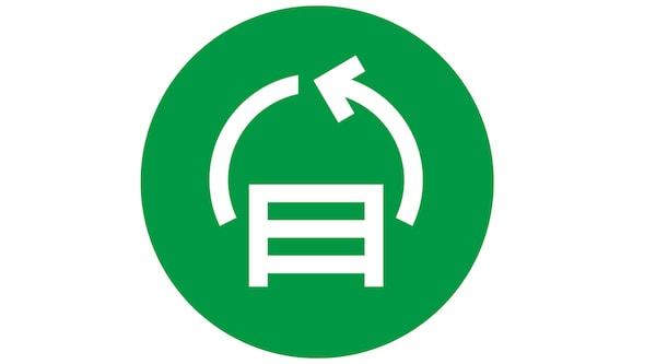 Un pictogramme de carrefour circulaire