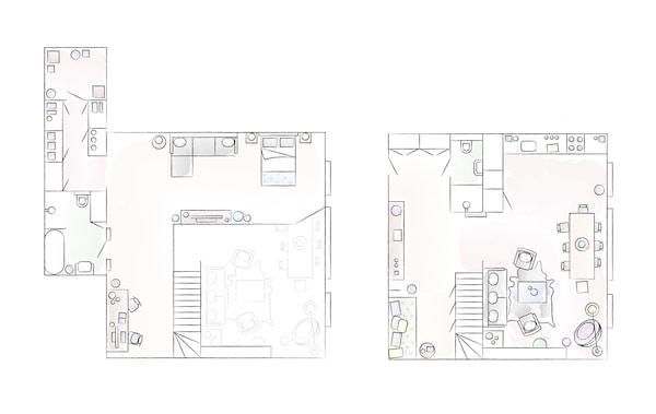 Un plan al casei lui Jules.