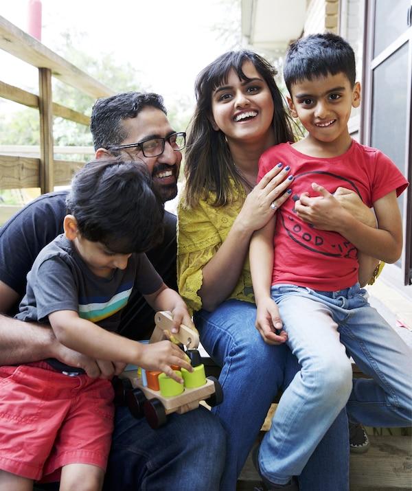 Un portret al lui Abeer și al familiei sale.