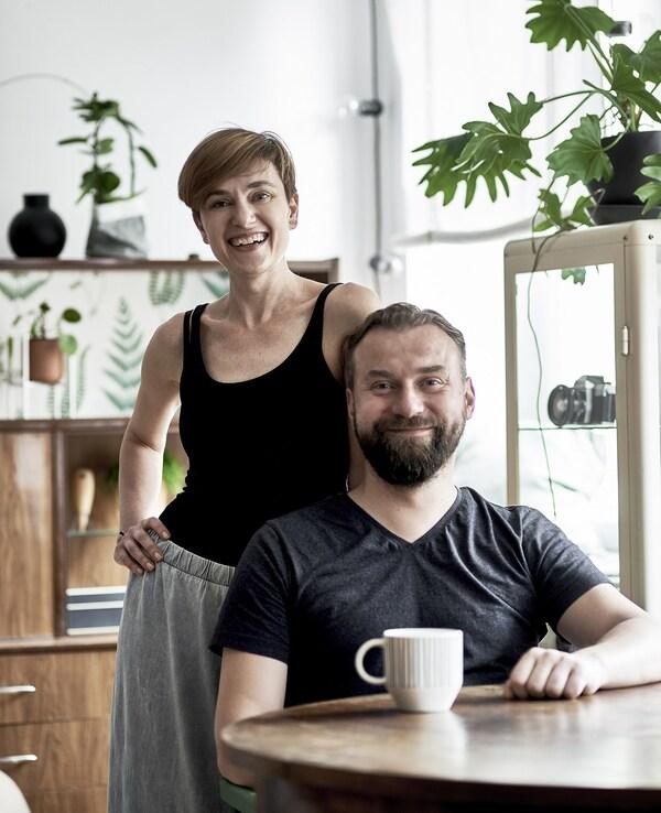 Un retrat de la Dagmara i el seu marit, en Krzysztof.