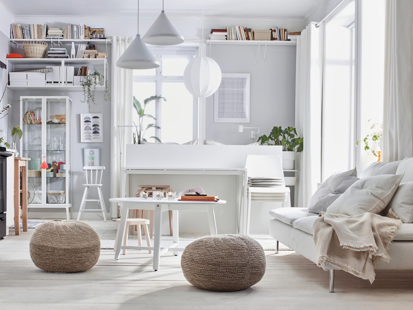 Un salon lumineux au style scandinave