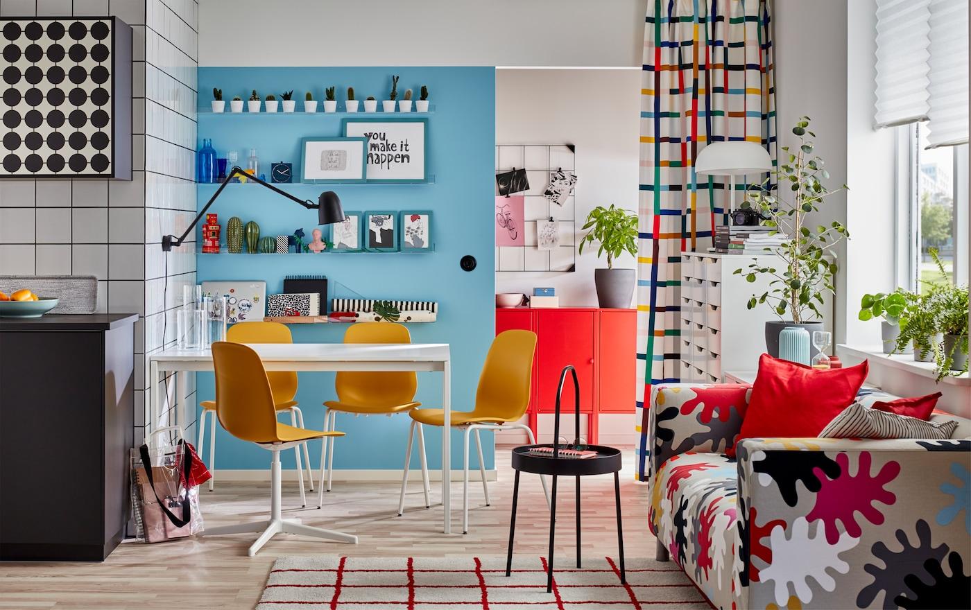 Sedie Gialle Da Cucina.Idee Per Arredare La Sala Da Pranzo Ikea