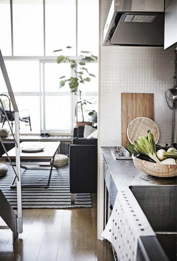 Una zona de cuina petita.