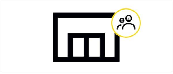 Une icône d'achat en magasin accompagnée d'un symbole indiquant que le port du masque est obligatoire dans les magasins IKEA et que les groupes doivent se limiter à deux personnes.