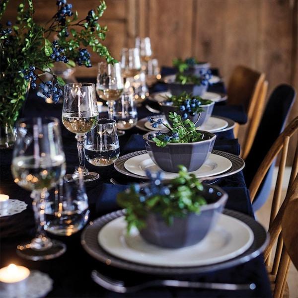 Une table festive pour noël