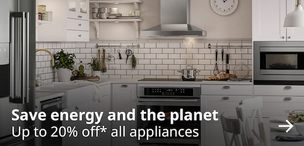 Up to 20% off* all appliances