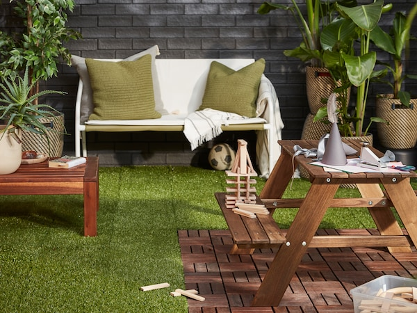 Update your outdoor space with flooring.