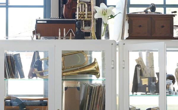 Upewnij się, że ulubione przedmioty będą w centrum uwagi, tak jak na to zasługują, za pomocą witryny IKEA FABRIKÖR.
