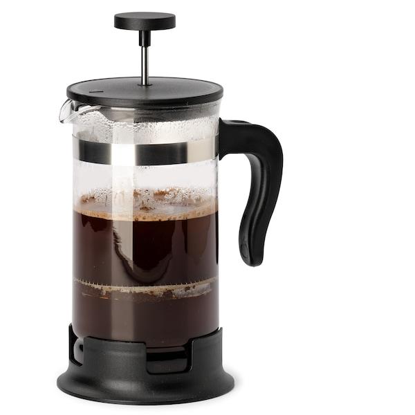 UPPHETTA konvice na čaj/kávu, sklo, nerezavějící ocel, 1 l.