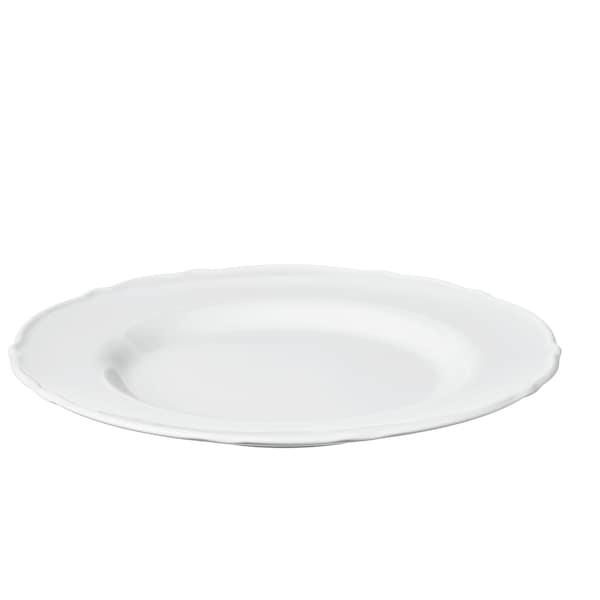 UPPLAGA Dezertní talíř, bílá, 22 cm.