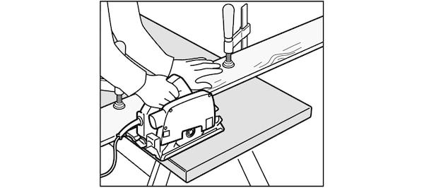 Utilisation de la scie circulaire pour cuisine IKEA