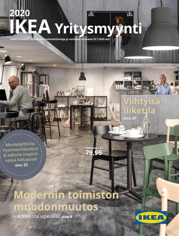 Uuden Yritysmyynti-kuvaston kannessa on valoisa kahvila.