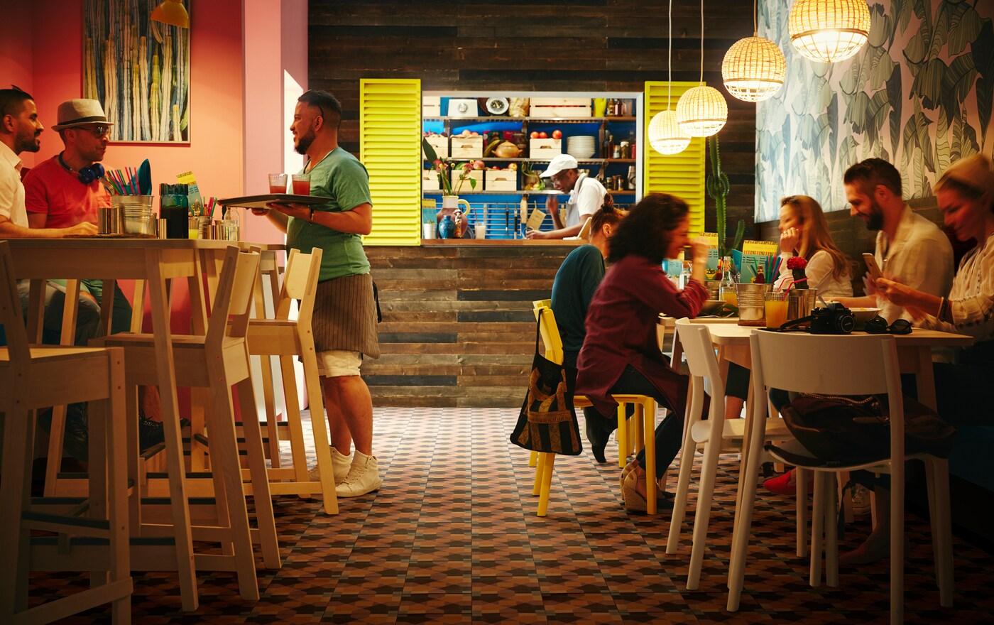 В ассортименте розничной сети ИКЕА представлена качественная и доступная мебель, а также мелкие товары для больших мечтателей и небольших предприятий, включая рестораны.