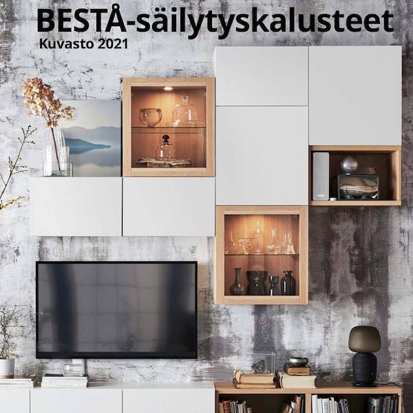 Valkoinen BESTÅ-kokonaisuus.