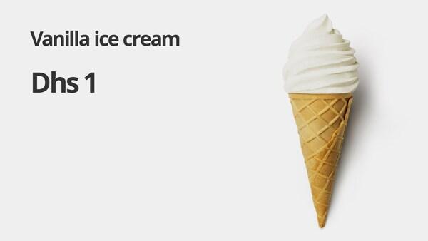 Vanila ice-cream