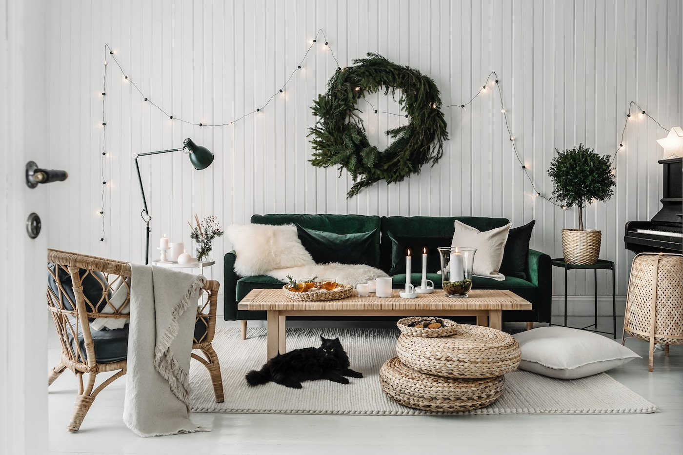 ARÖD Golv läslampa, grön IKEA