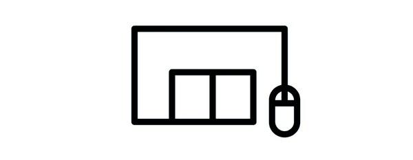 Varehus ikon i sort med en mus sat til