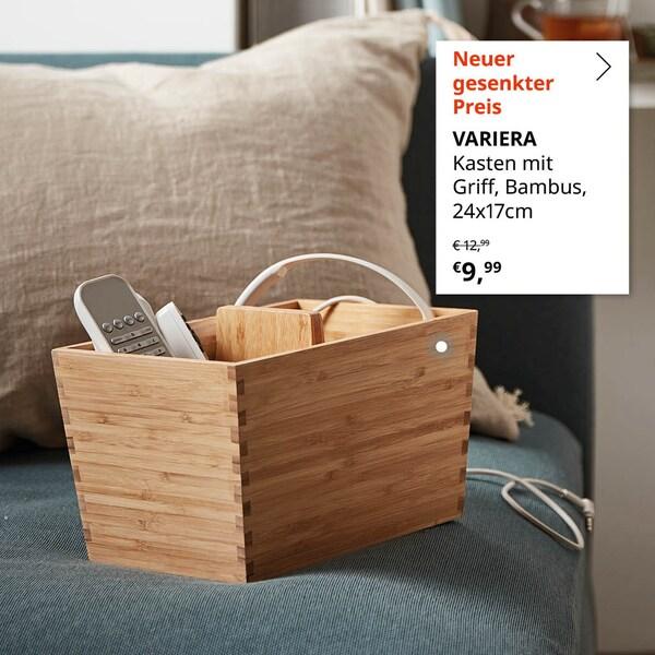 VARIERA Kasten mit Griff aus Bambus zum gesenkten Preis