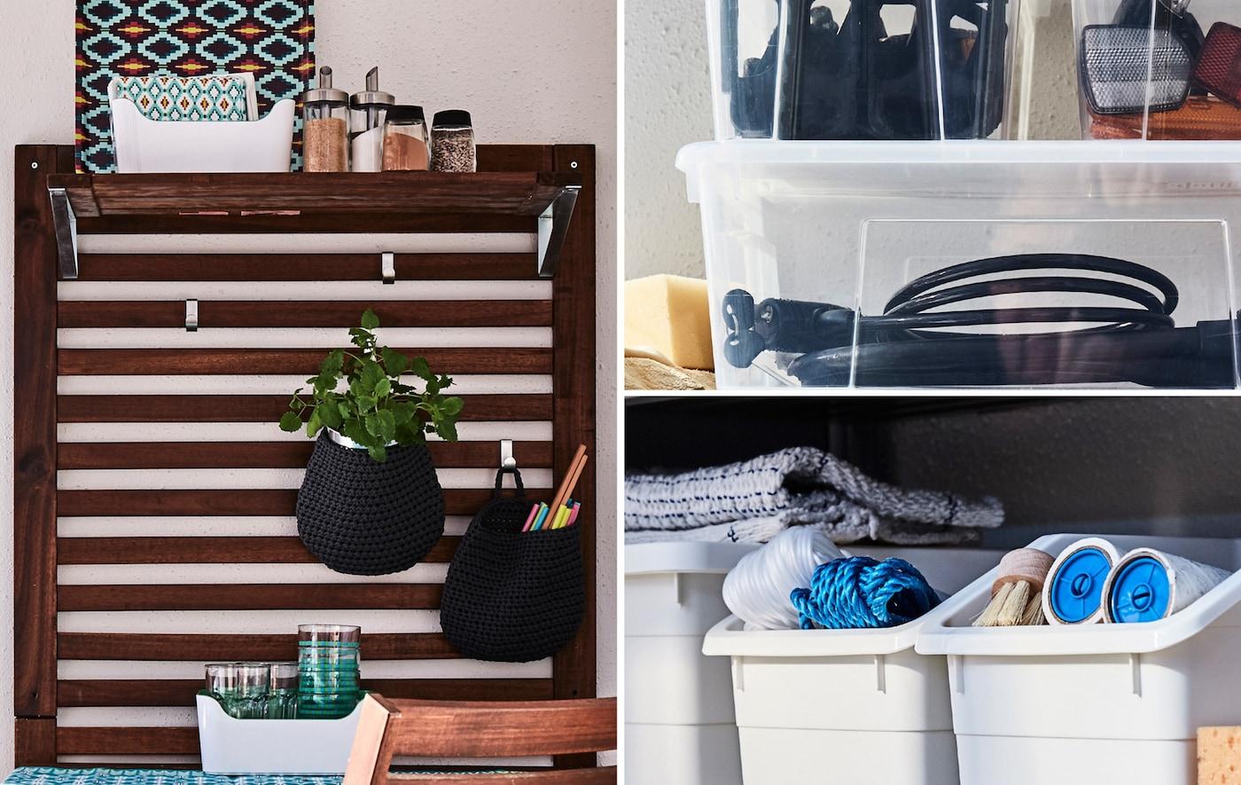 Outdoor storage and organising  Balcony ideas - IKEA