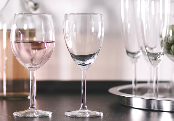 Various wine glasses.