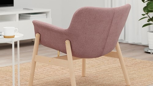 VEDBO Armchair, Gunnared light brown-pink