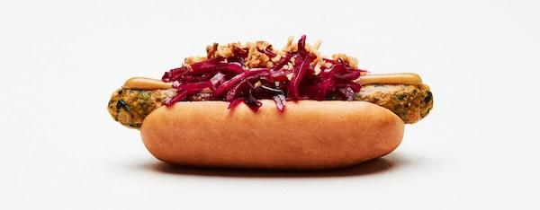 veggie dog vegetarische hotdog ikea