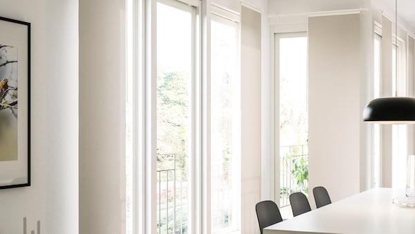 VIDGA set panel curtains wall mounted