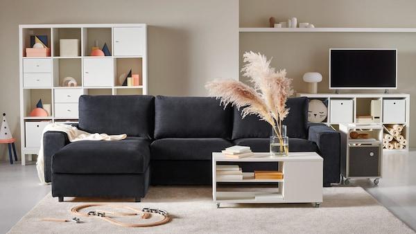 VIMLE dark gray sofa.