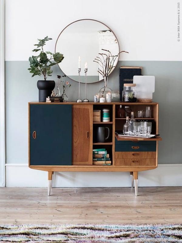 vintage- dressoir- tweedehands-duurzaam-IKEA wooninspiratie