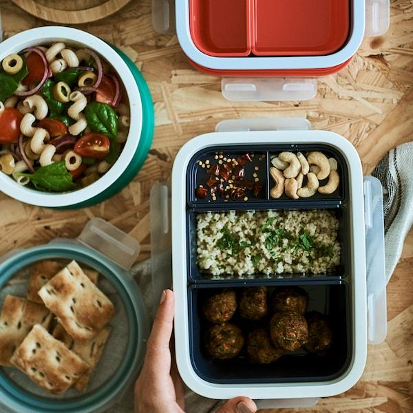 Visita a casa: como preparar marmitas mais saudáveis.