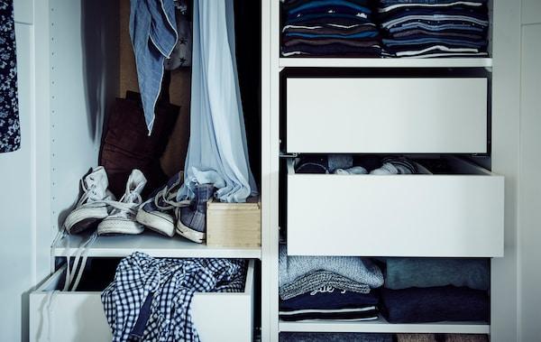 Vizită la domiciliu: organizează-ți garderoba folosind dulapul de haine PAX