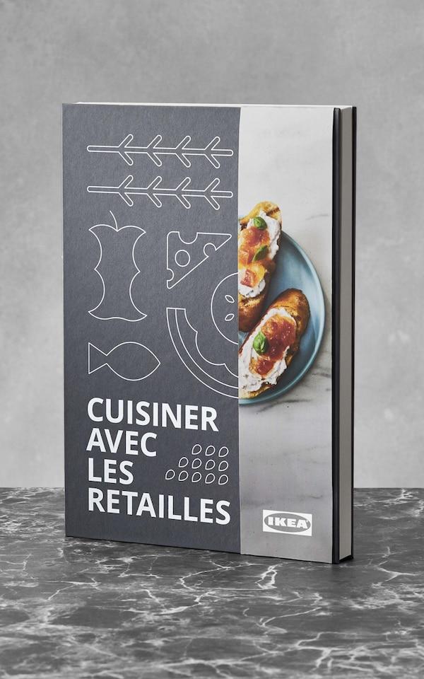 Voici le livre Cuisiner avec les retailles de IKEA.