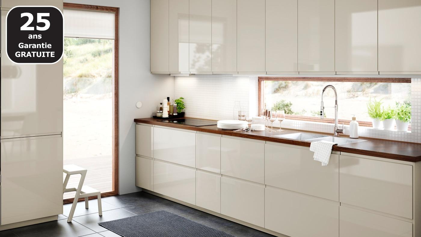 Poignée De Cuisine Ikea page finitions cuisine voxtorp beige brillant - ikea