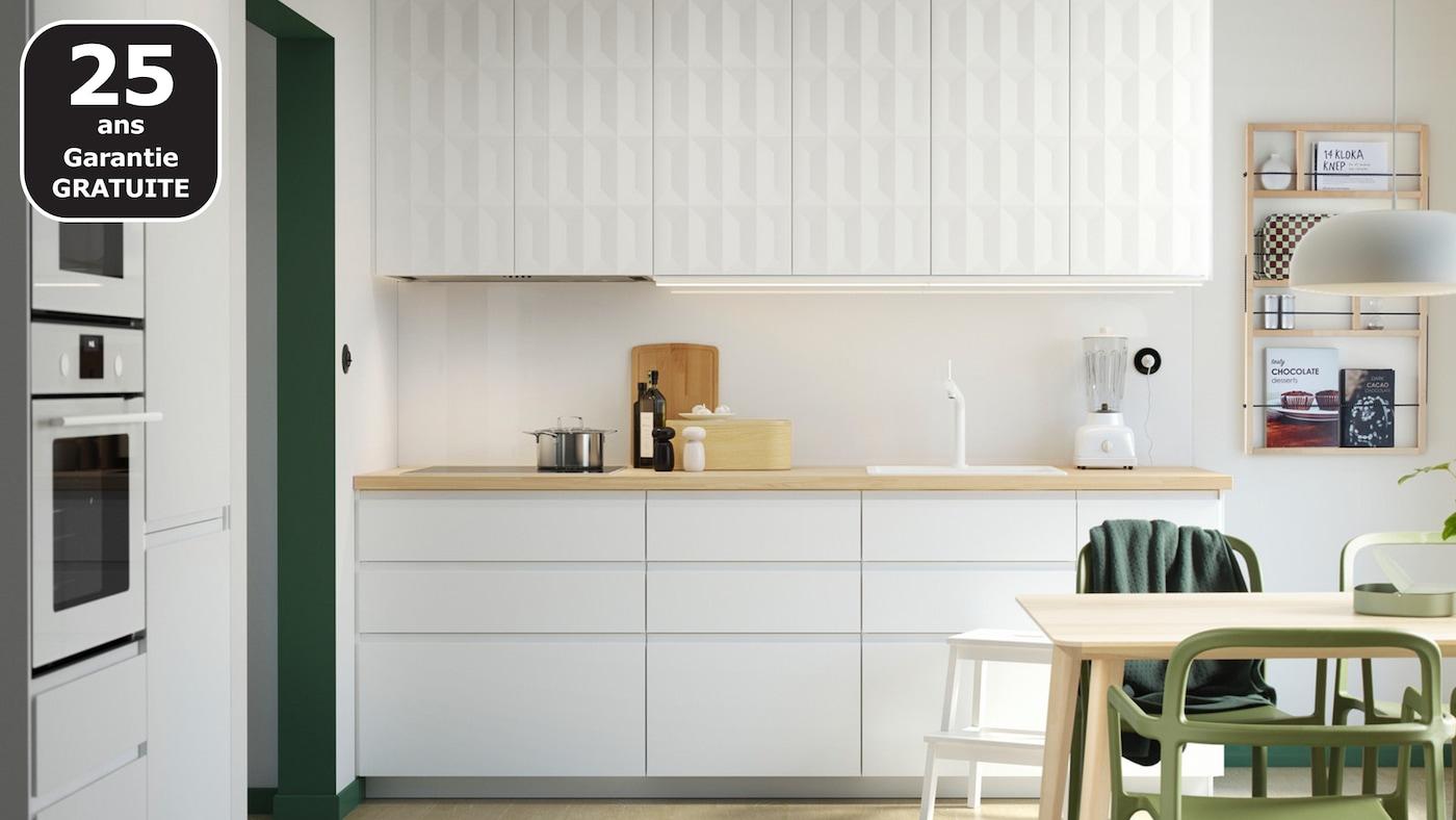 Porte Cuisine Sur Mesure Ikea page finitions cuisine voxtorp blanc mat - ikea