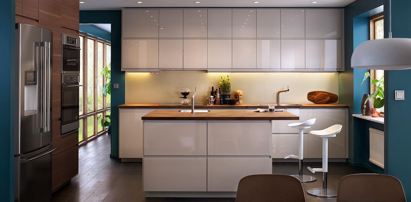 Voxtorp High Gloss Light Beige Kitchen Series Ikea