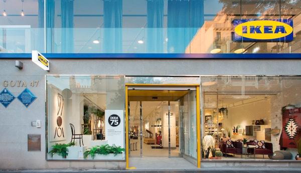 Vue d'un nouveau magasin de centre-ville IKEA, en phase de test à Madrid, en Espagne.