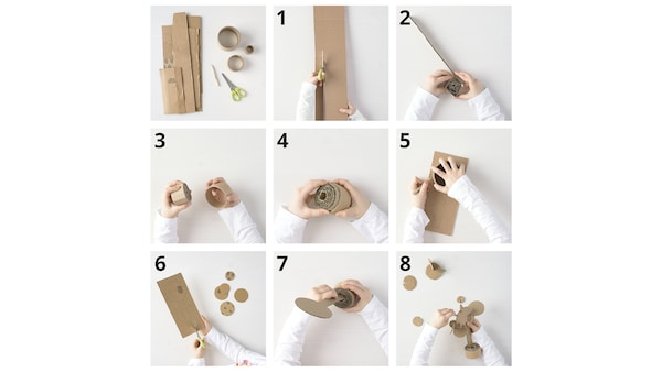 Vytvořte něco pěkného z kartonu.
