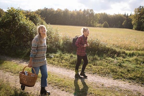 Wandern auf dem Land in Schweden