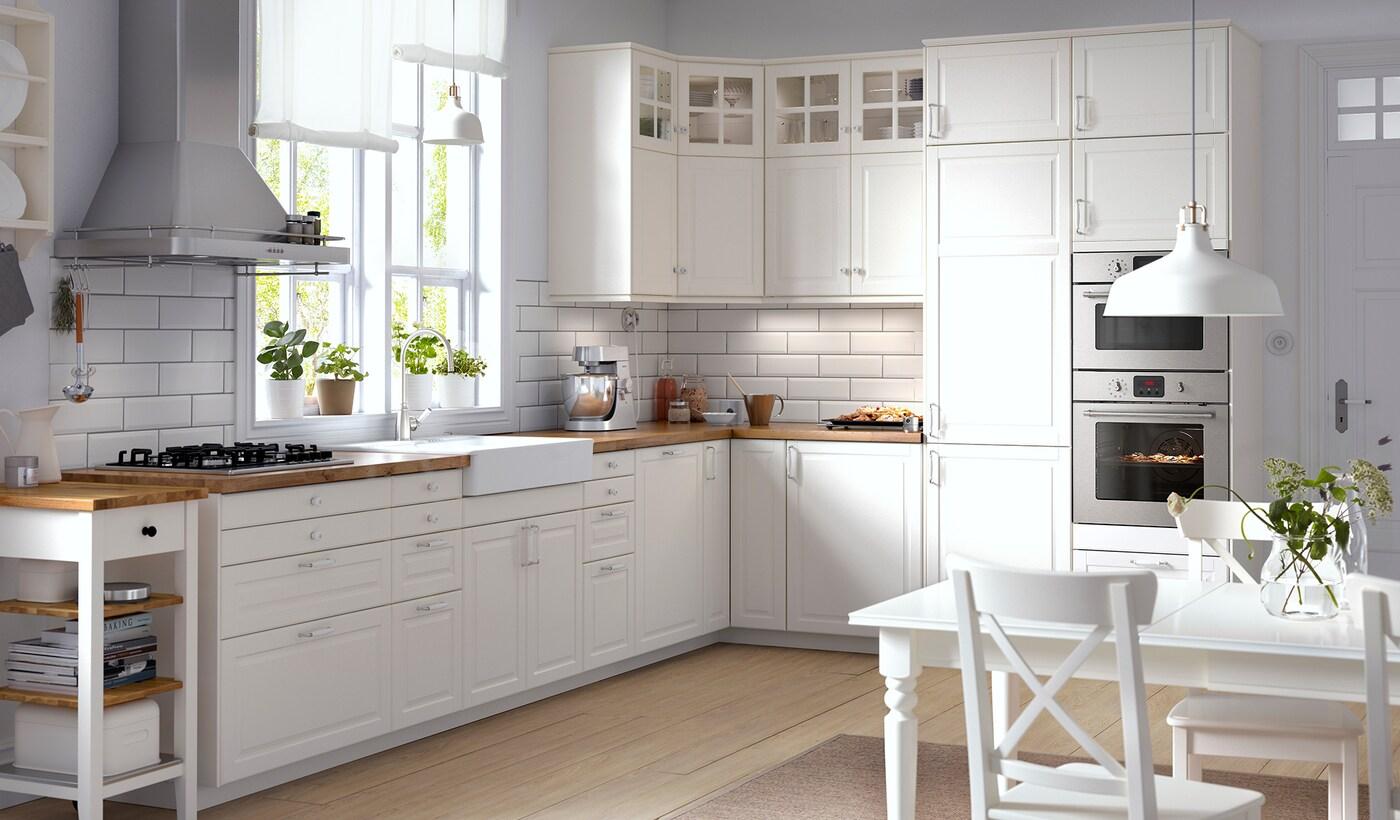 Weisse Kuche Im Skandinavischen Stil Ikea Deutschland