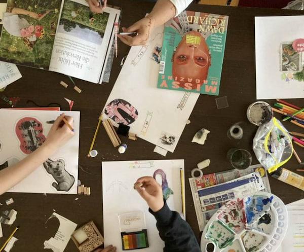 Weltflüchtlingstag 2021 Save the Children kreatives Arbeiten im Workshop