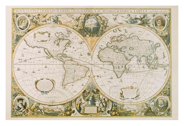 wereldkaart en landkaarten posters ikea