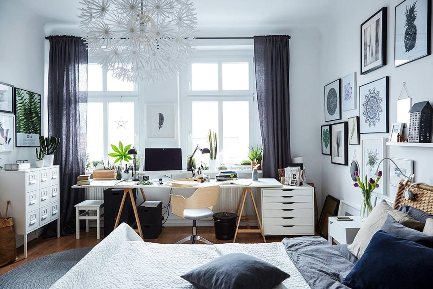 werkplek bureau in je slaapkamer