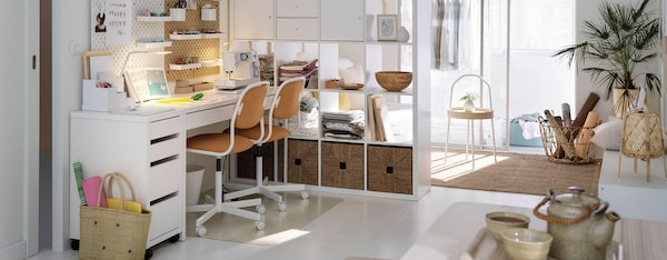 werkplek inrichting thuiswerken ergonomisch bureau micke ikea