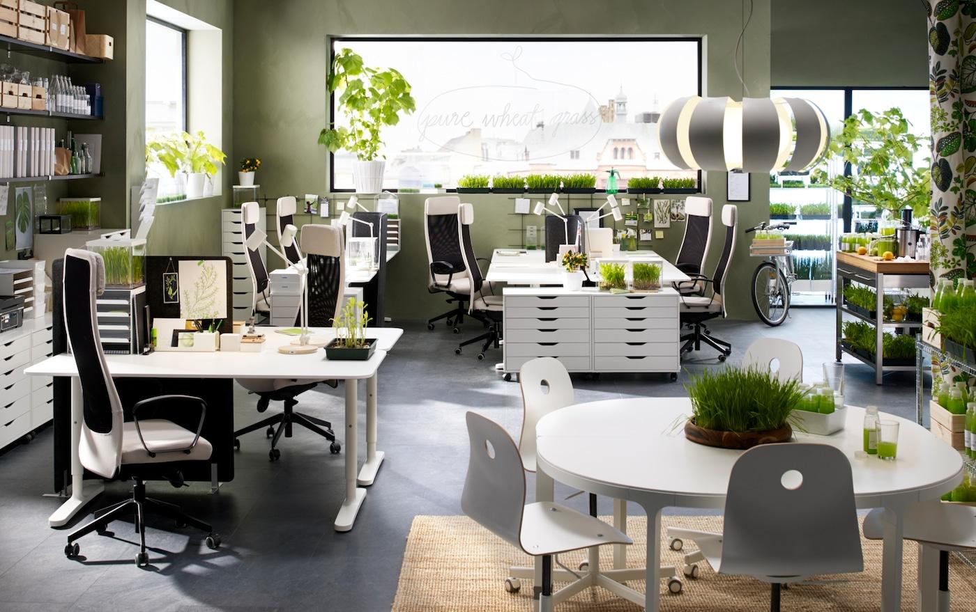 werkplek kantoor business bureau bureaustoelen ikea