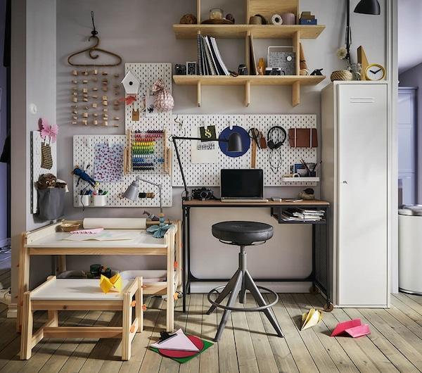 werkplek-speelplek- wonen-met-je-zoon-IKEA wooninspiratie