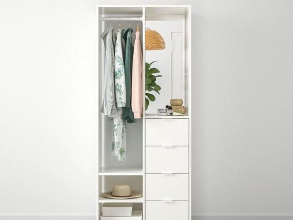 White open concept wardrobe