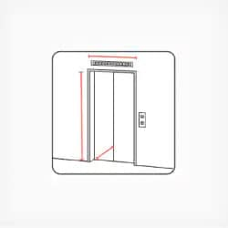 Width, height and depth of the elevator cargo